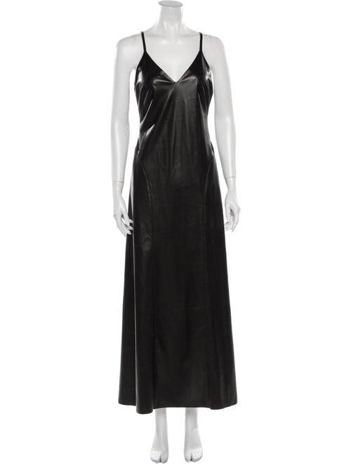 Nanushka V-Neck Long Dress Black