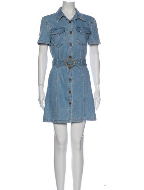 Nanushka Mini Dress Blue