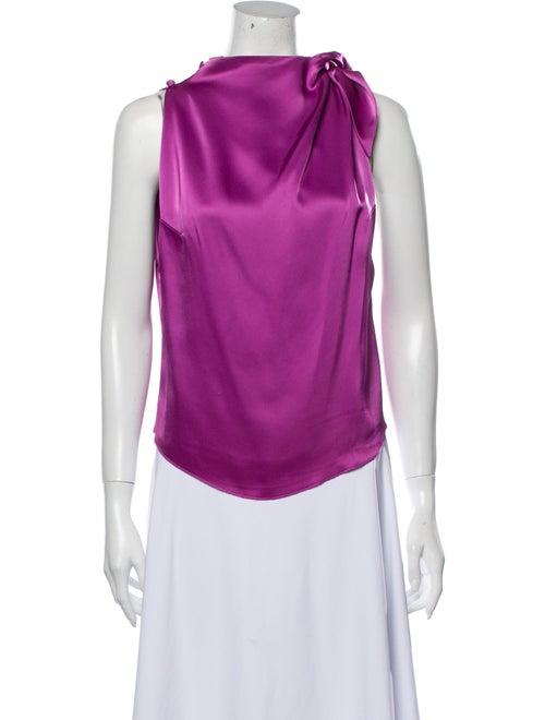 Nanushka Cowl Neck Sleeveless Blouse Purple