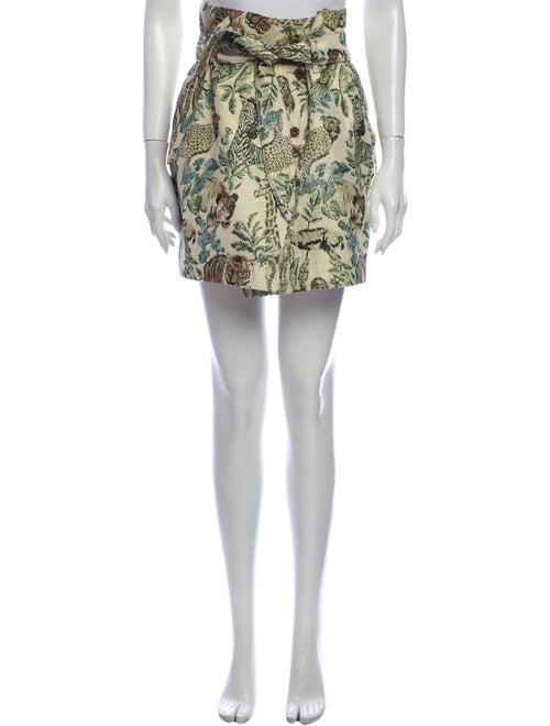 Nanushka Printed Mini Skirt Green