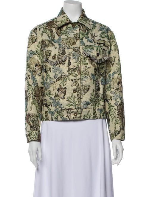 Nanushka Floral Print Jacket