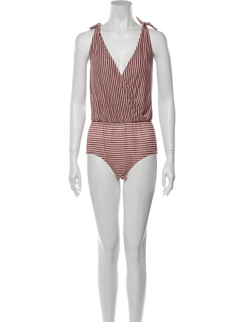 Nanushka Linen Striped Bodysuit