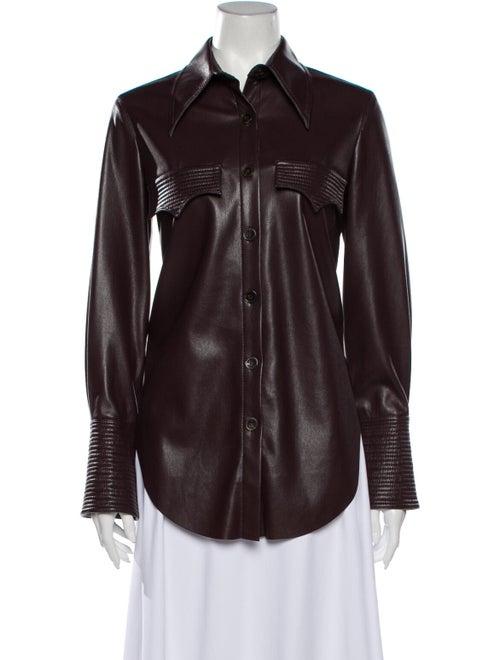 Nanushka Long Sleeve Button-Up Top