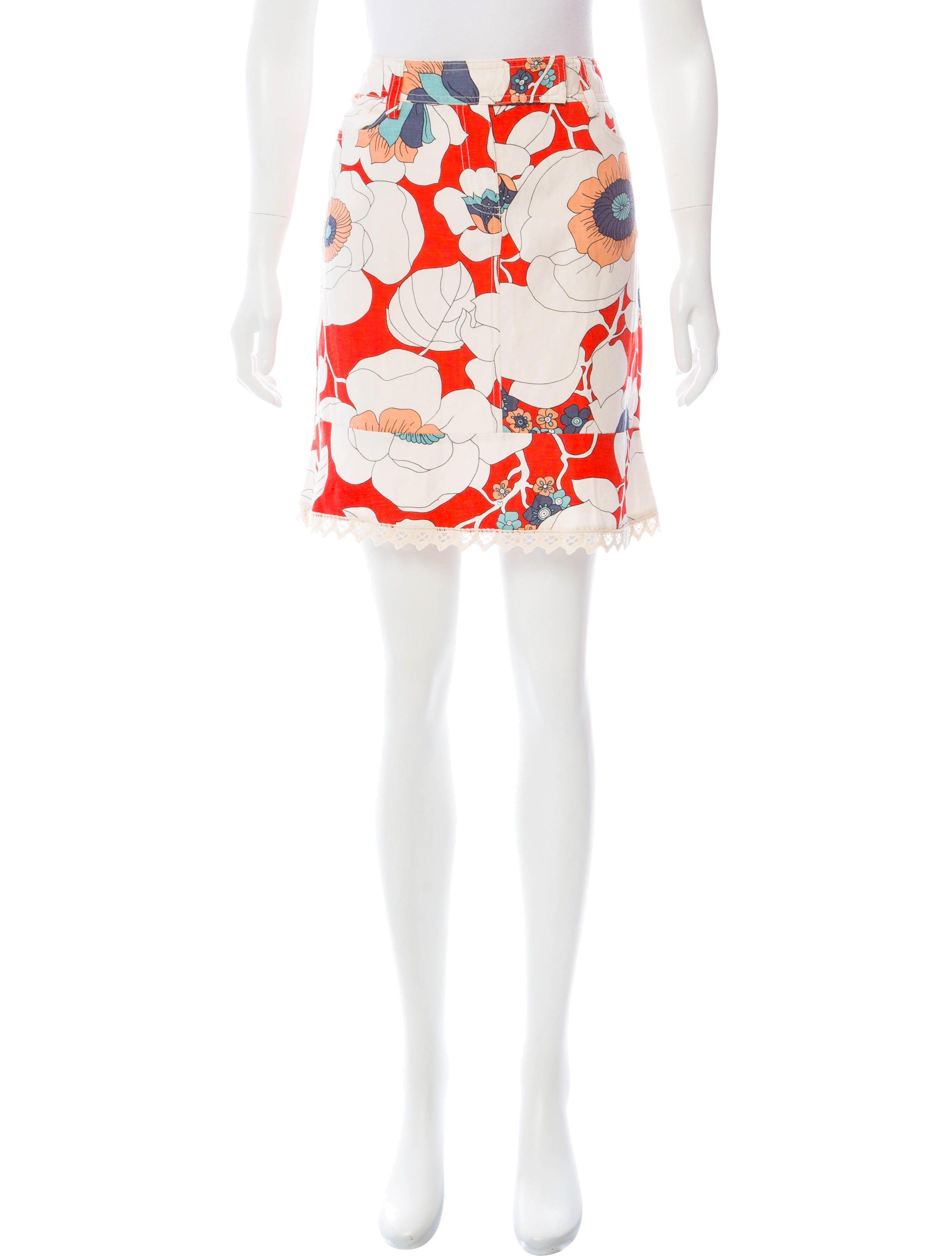 Floral Print Mini Skirt 37