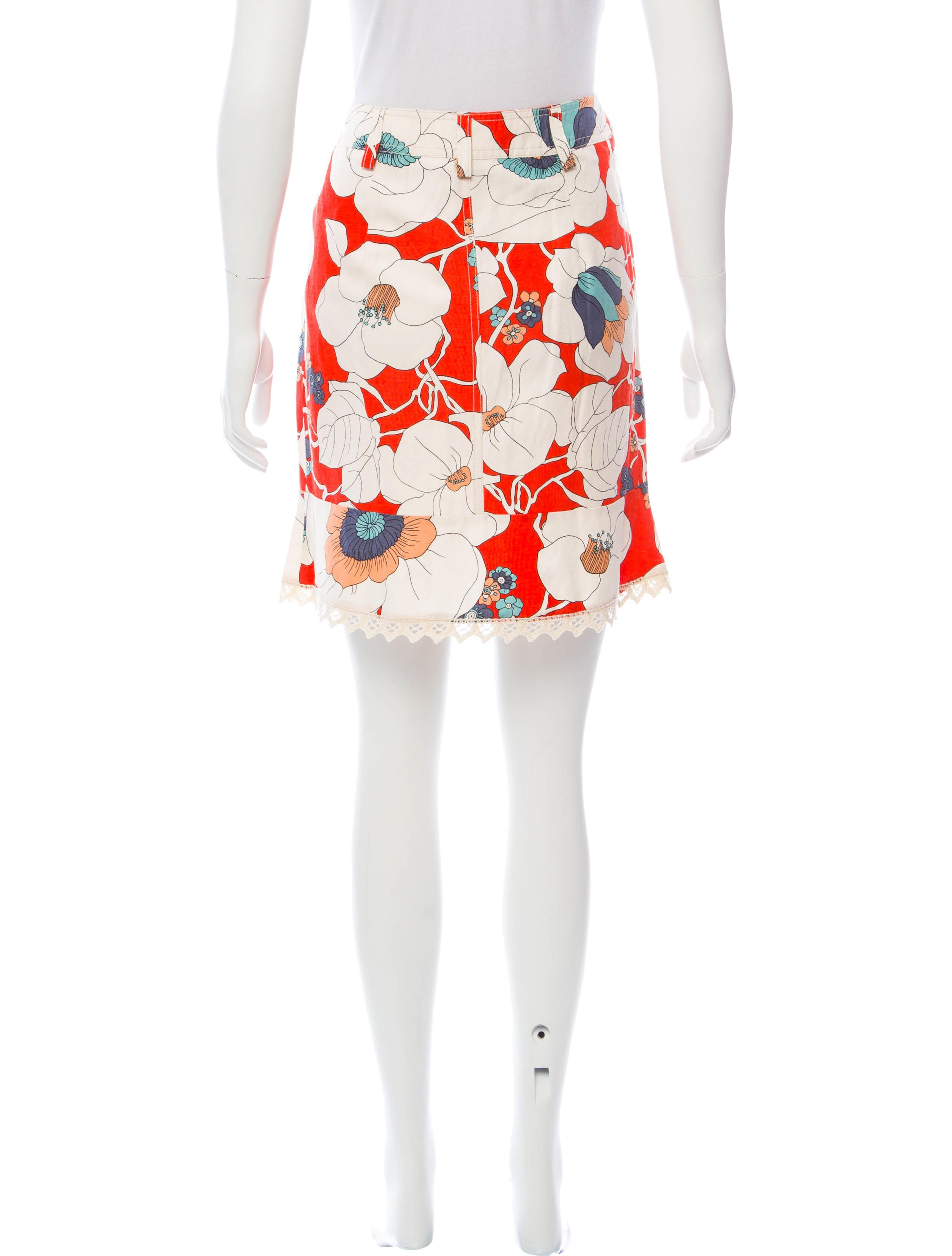 Floral Print Mini Skirt 28