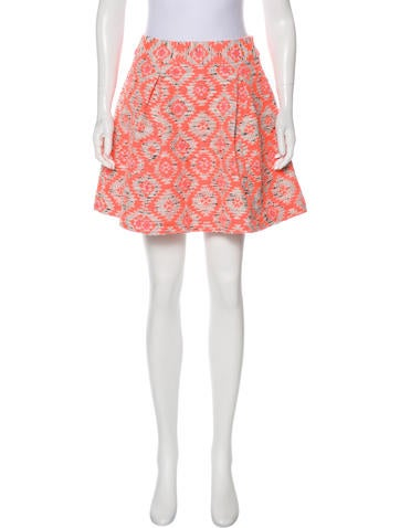 Nanette Lepore Patterned Mini Skirt Clothing WNA40 The RealReal Delectable Patterned Mini Skirt