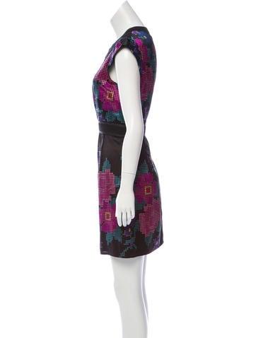 Silk-Blend Mini Dress