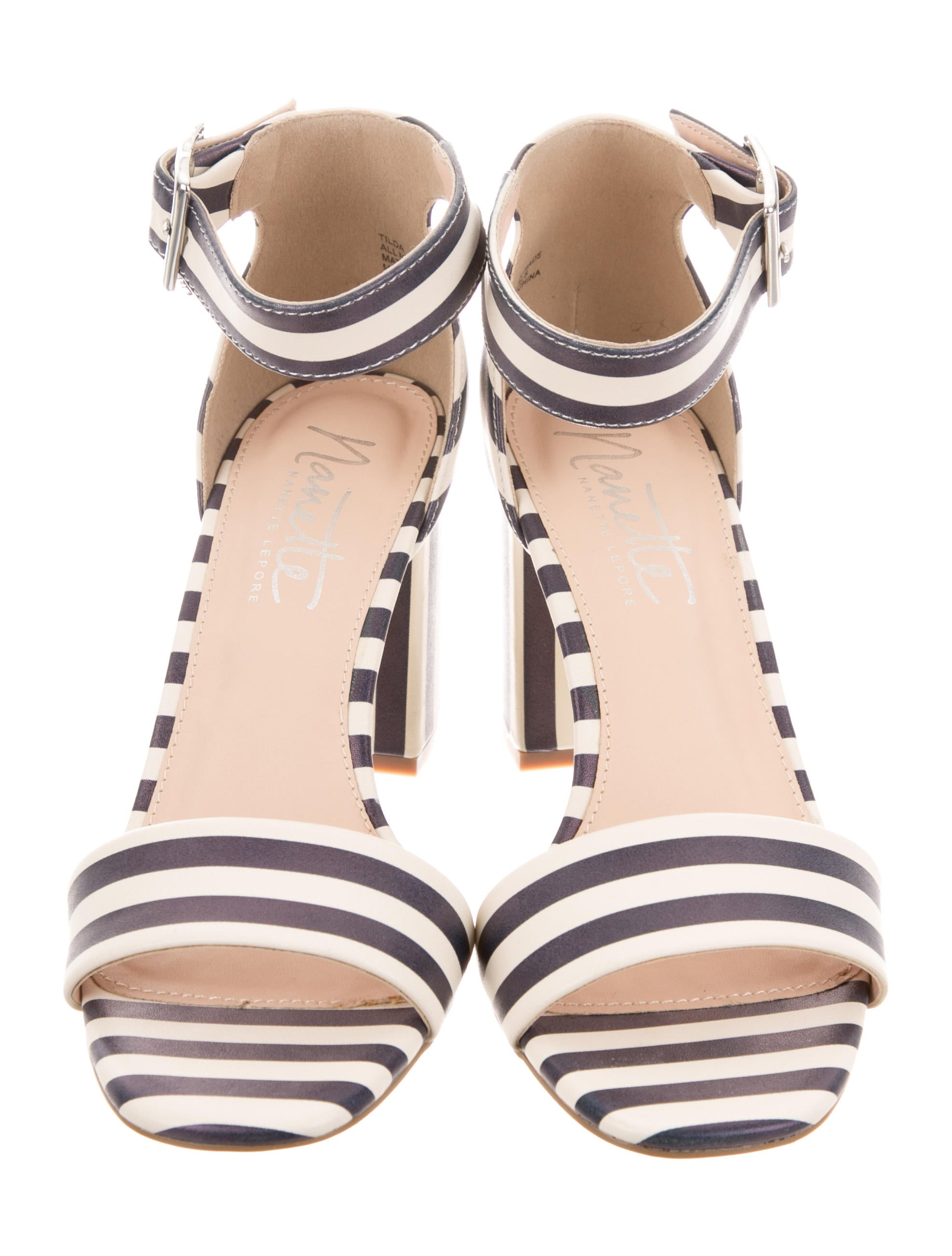 free shipping shop offer in China Nanette Lepore Tilda Striped Sandals w/ Tags low shipping fee sale online brand new unisex for sale ac30Vjb9b