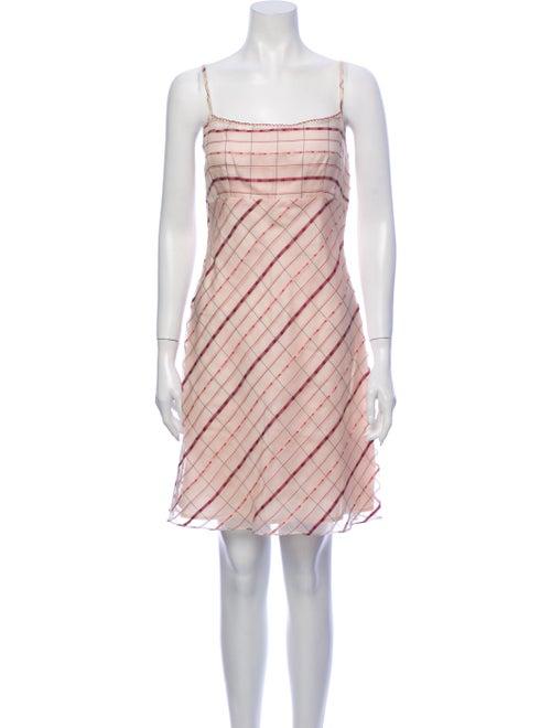 Nanette Lepore Plaid Print Mini Dress Pink
