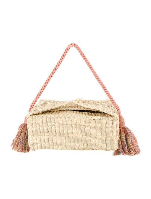 Nannacay Straw Woven Basket Shoulder Bag w/ Tags