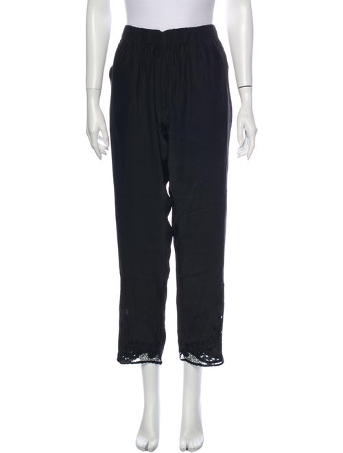 Natalie Martin Silk Straight Leg Pants Black