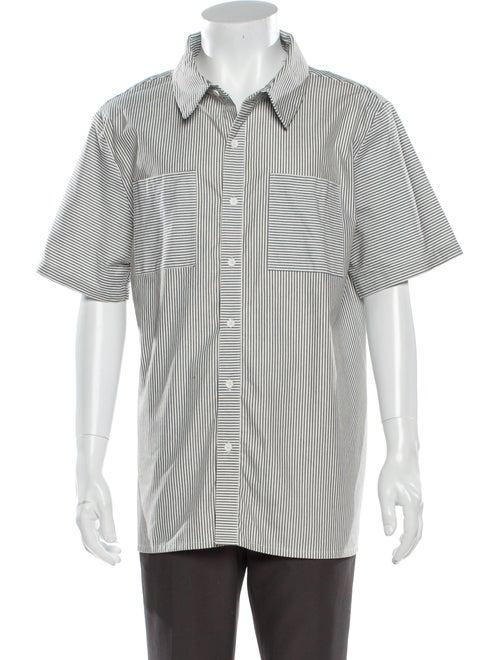 Native Youth Striped Short Sleeve Shirt White