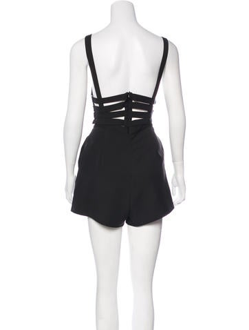 Cutout-Accented Sleeveless Romper