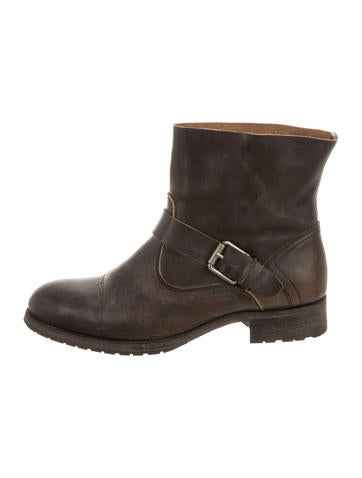 n.d.c. Distressed Round-Toe Booties for sale wholesale price lgsM8