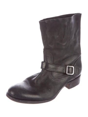 Leather Ankle-Strap Booties