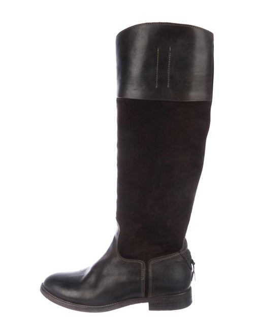 n.d.c. Leather Knee-High Boots Brown