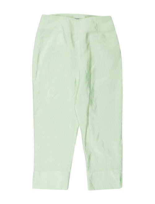 N-Duo Striped Straight Leg Pants Green