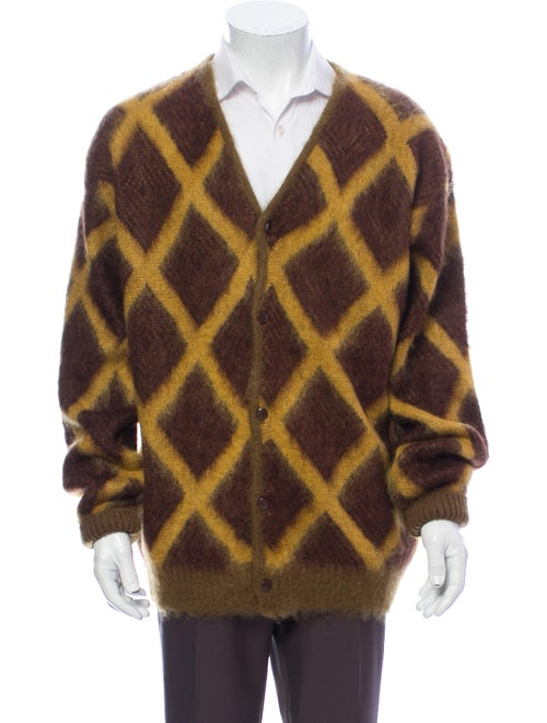 Needles Mohair Printed Cardigan Brown