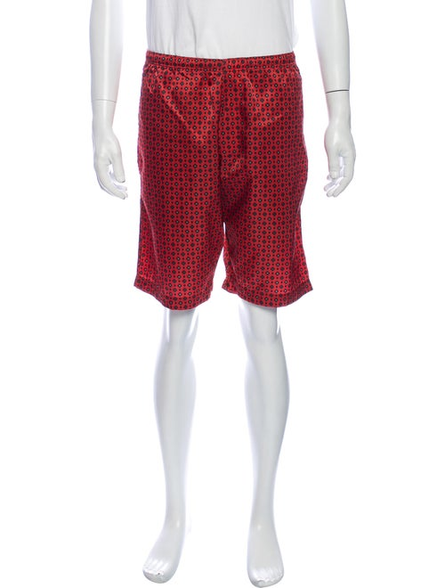 Needles Printed Shorts Red
