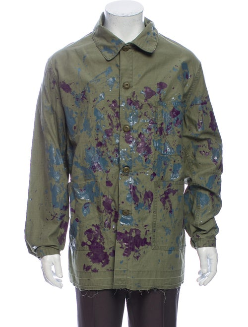 Needles Printed Jacket Green