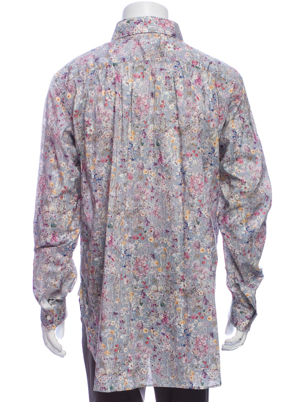 Needles Floral Print Long Sleeve Shirt Grey - image 3