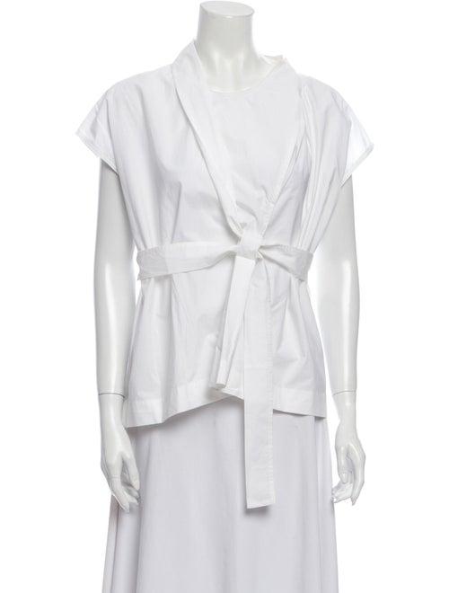 Nehera V-Neck Short Sleeve Blouse White