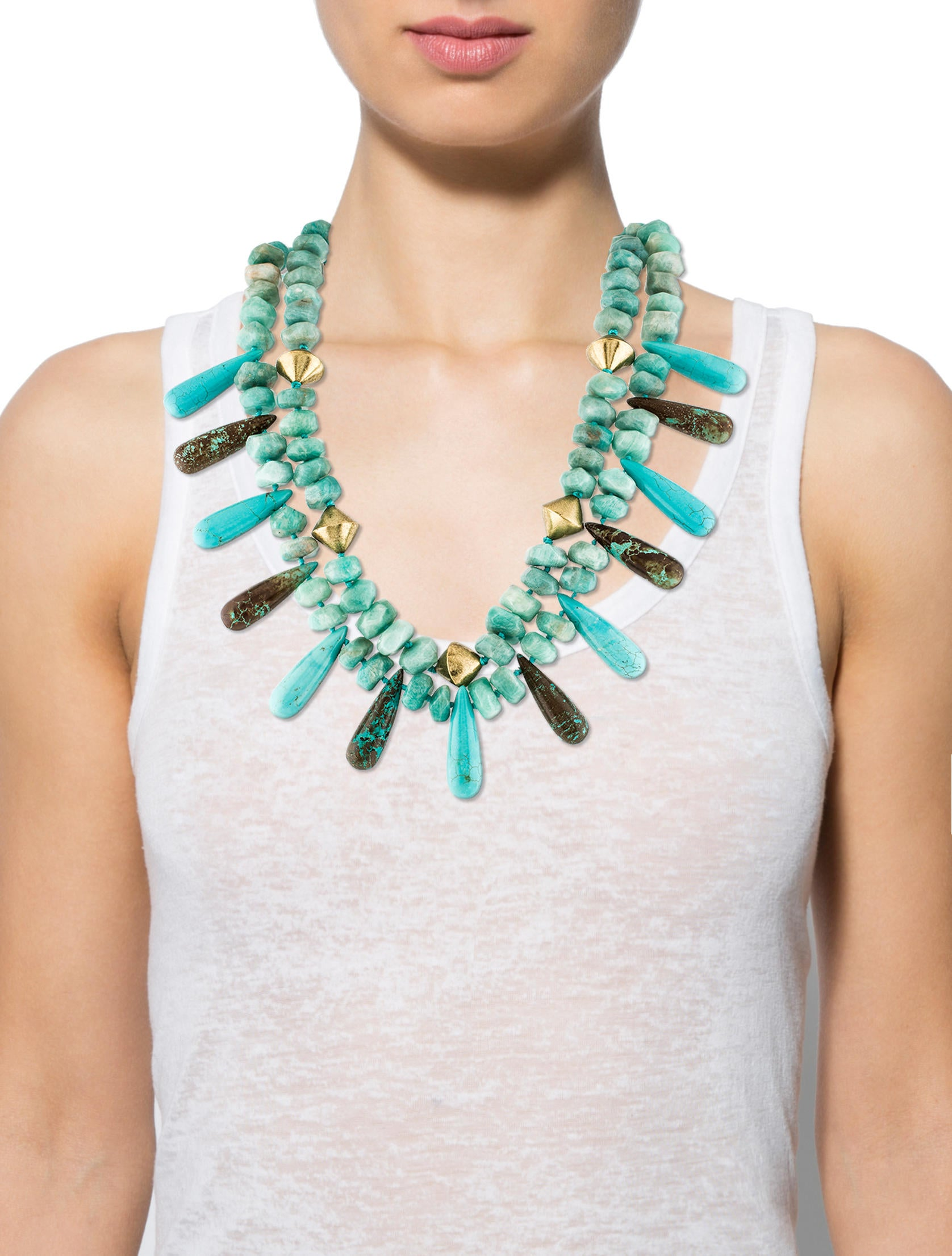 10 Kitchen And Home Decor Items Every 20 Something Needs: Nest Jewelry Amazonite & Turquoise Double Strand Necklace