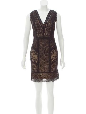 Nicole Miller Lace Mini Dress None
