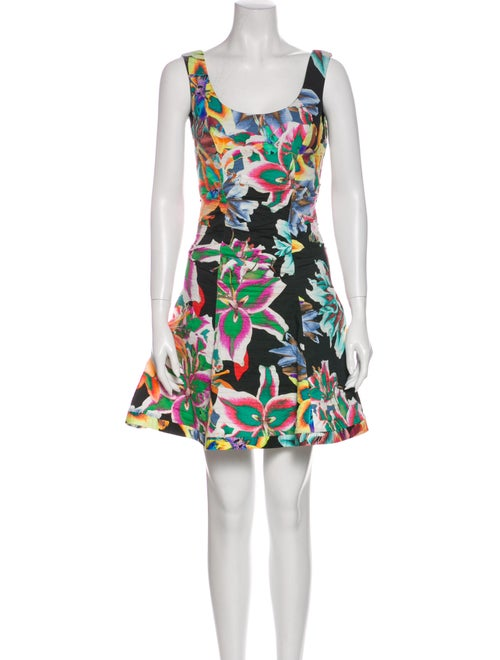 Nicole Miller Floral Print Mini Dress w/ Tags Blac