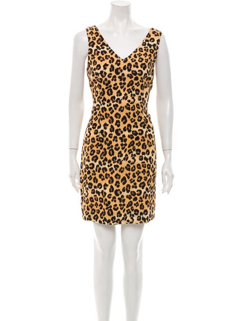 Nicole Miller Animal Print Mini Dress