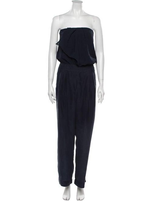 Nicole Miller Strapless Jumpsuit Blue