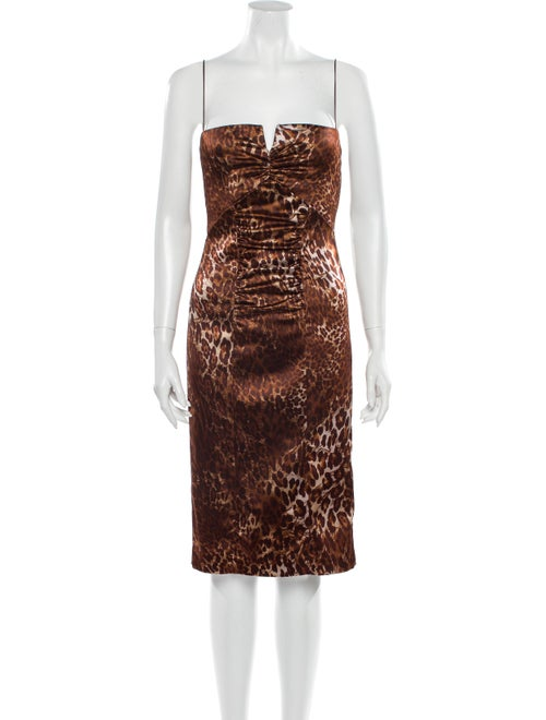 Nicole Miller Animal Print Midi Length Dress