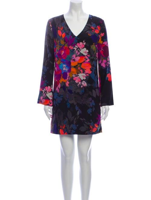 Nicole Miller Silk Mini Dress Black