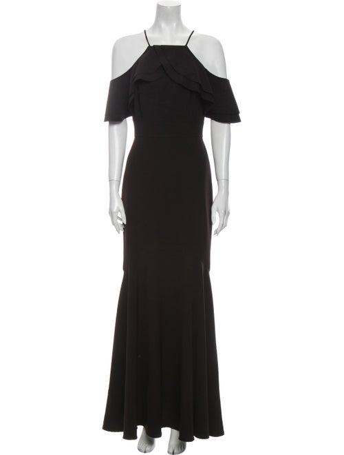 Nicole Miller Off-The-Shoulder Long Dress Black