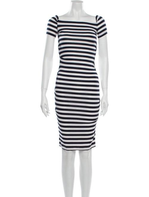 Nicole Miller Striped Mini Dress Blue