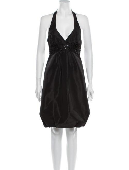 Nicole Miller Halterneck Mini Dress Black