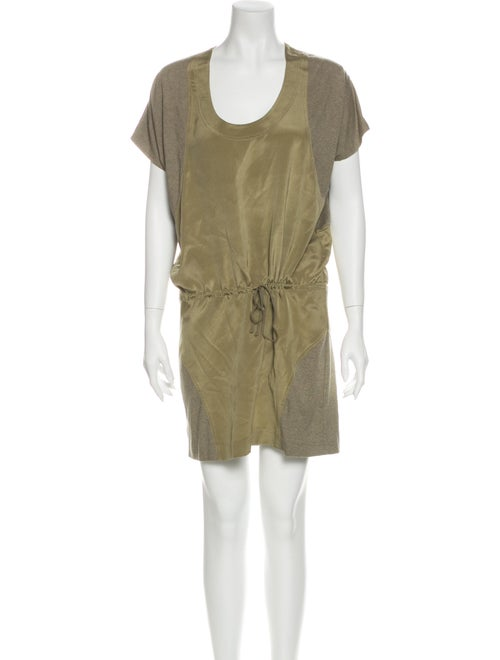 Nicole Miller Silk Mini Dress Green