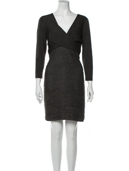 Nicole Miller V-Neck Mini Dress w/ Tags Grey