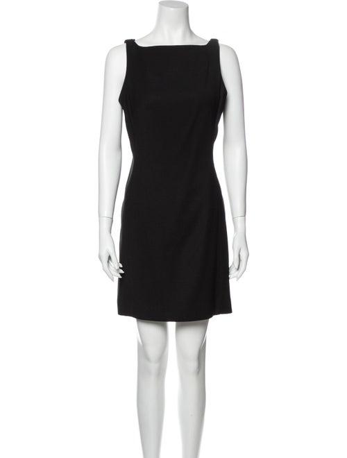 Nicole Miller Bateau Neckline Mini Dress Black