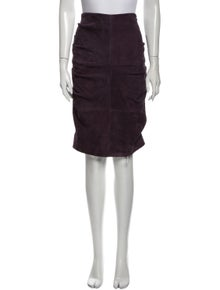 Nicole Miller Goat Leather Mini Skirt