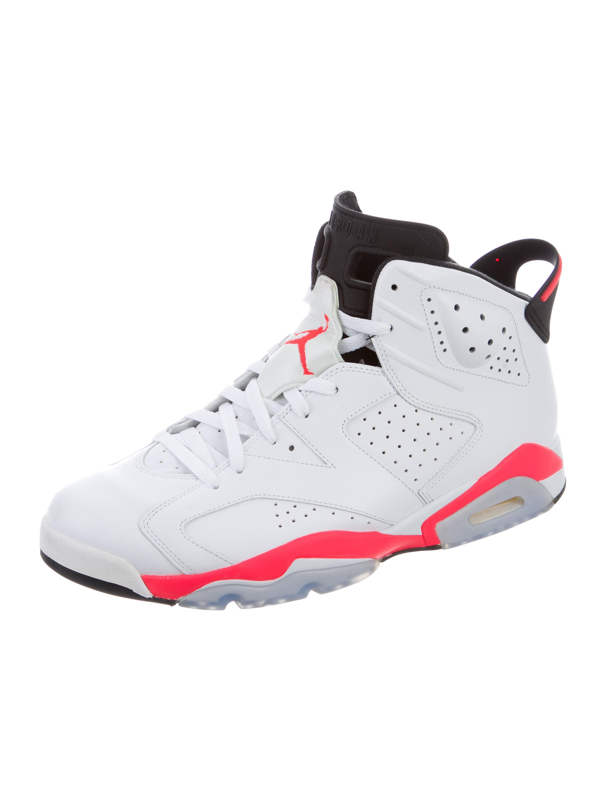 nike air jordan 6 retro infrared sneakers shoes. Black Bedroom Furniture Sets. Home Design Ideas
