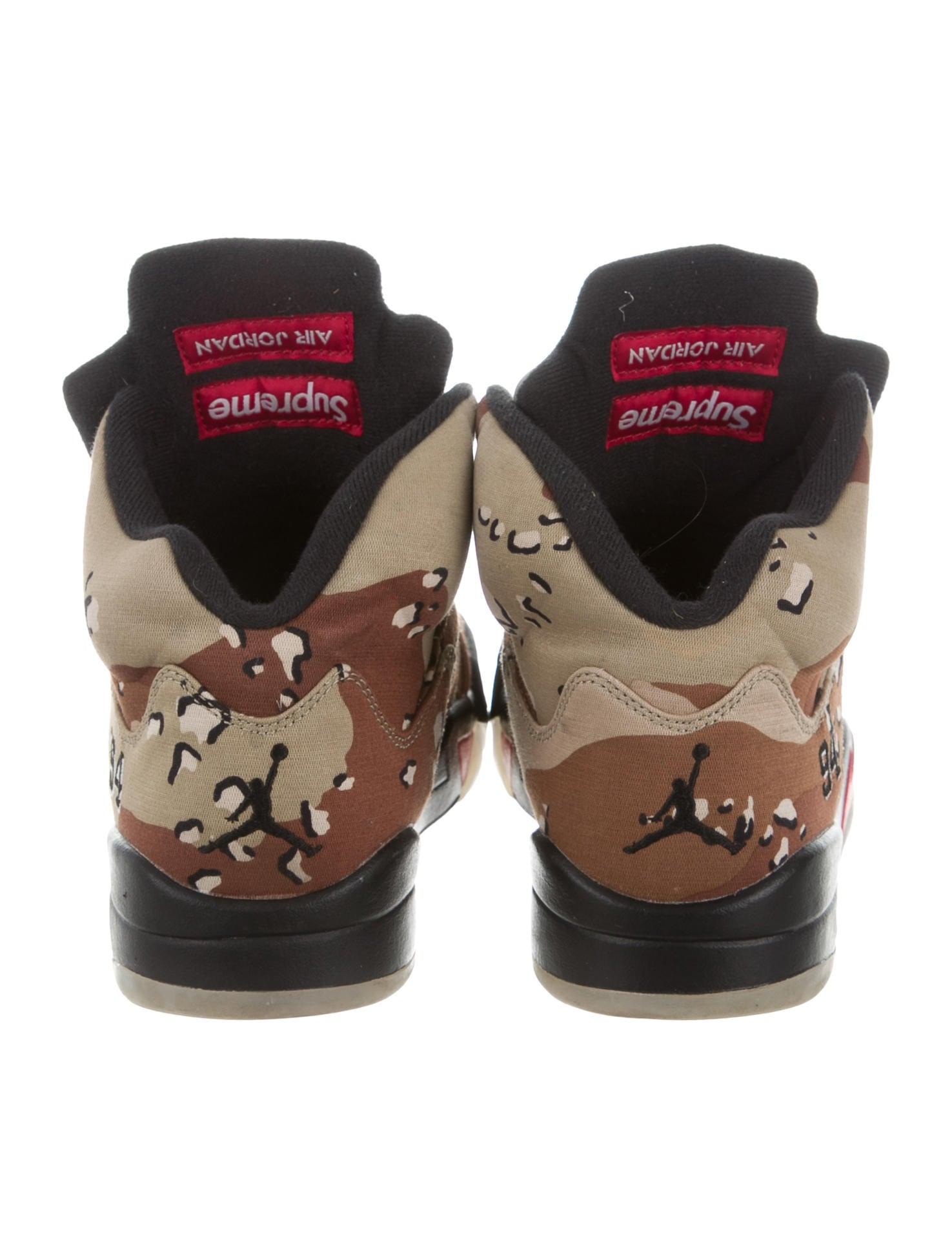 Nike Air Jordan 5 Retro Supreme Sneakers Shoes