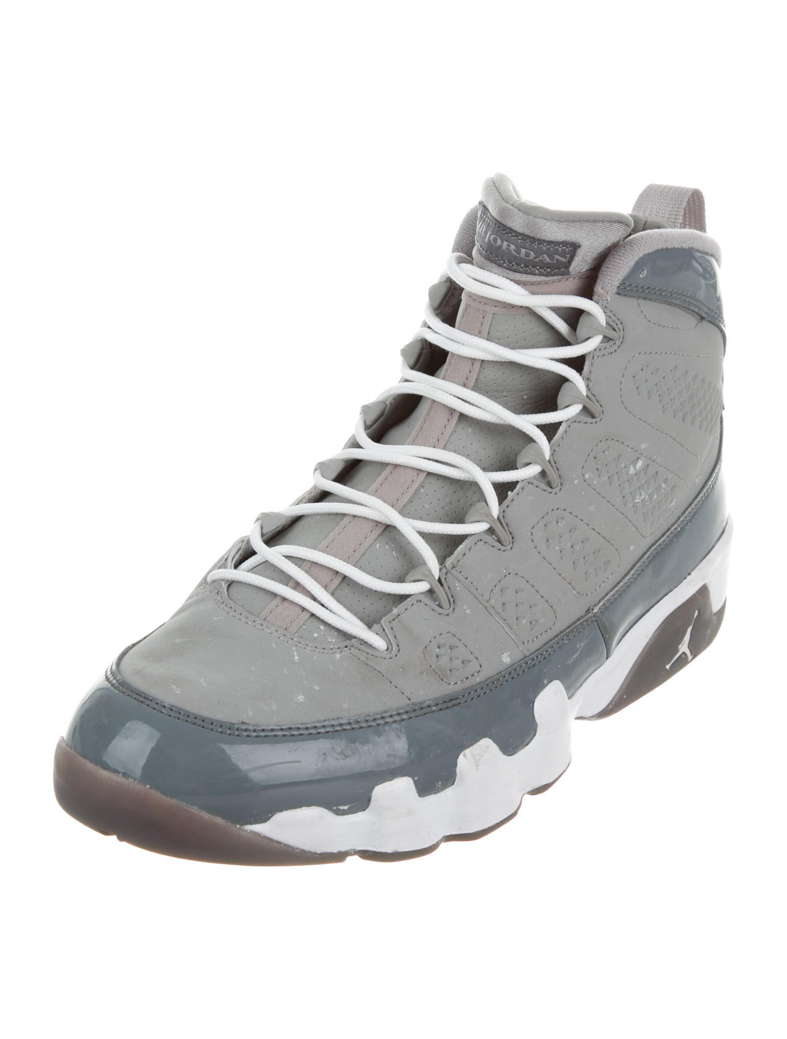 nike air jordan 9 retro high top sneakers shoes wniaj20067 the realreal. Black Bedroom Furniture Sets. Home Design Ideas