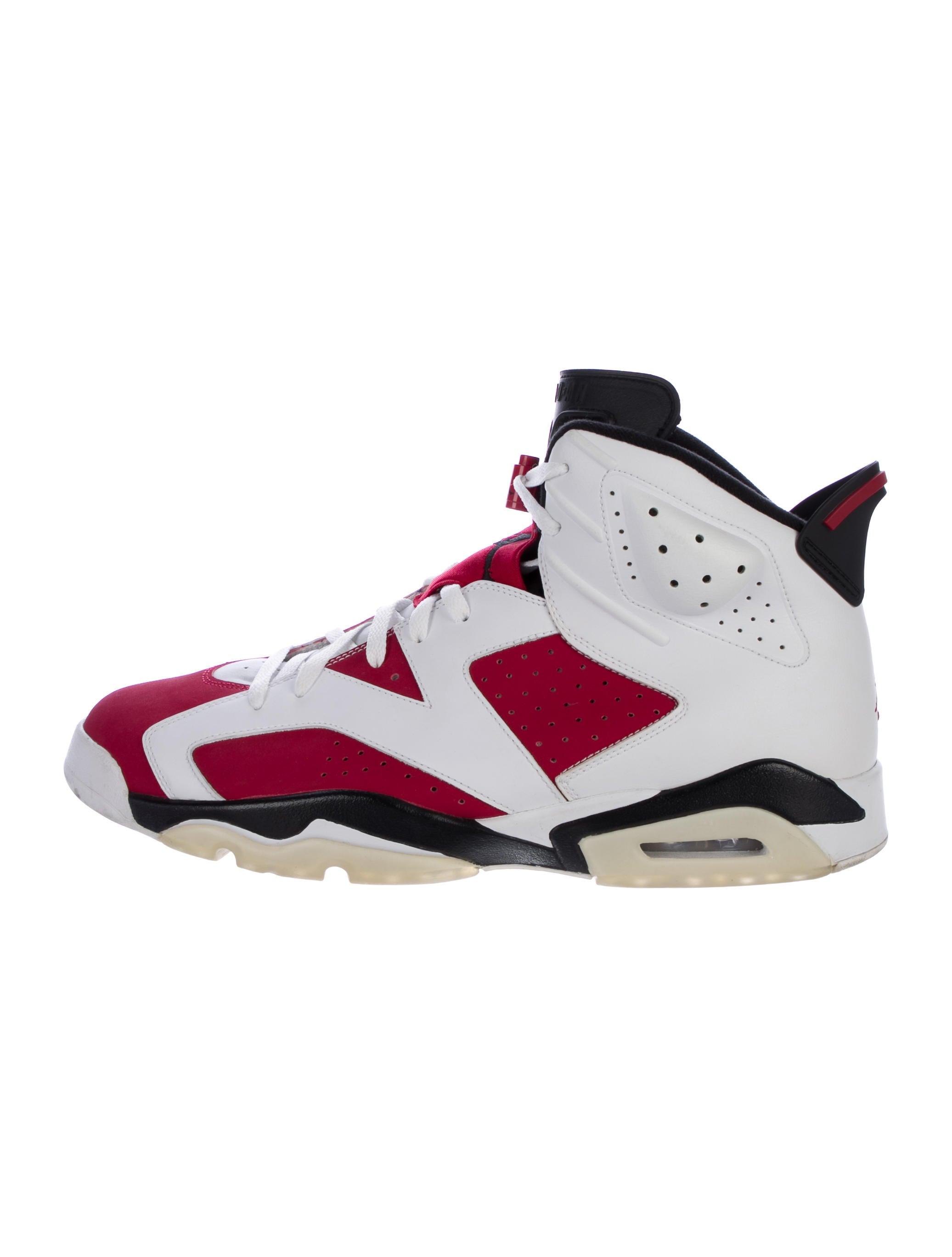 nike air jordan 6 retro high top sneakers shoes wniaj20369 the realreal. Black Bedroom Furniture Sets. Home Design Ideas