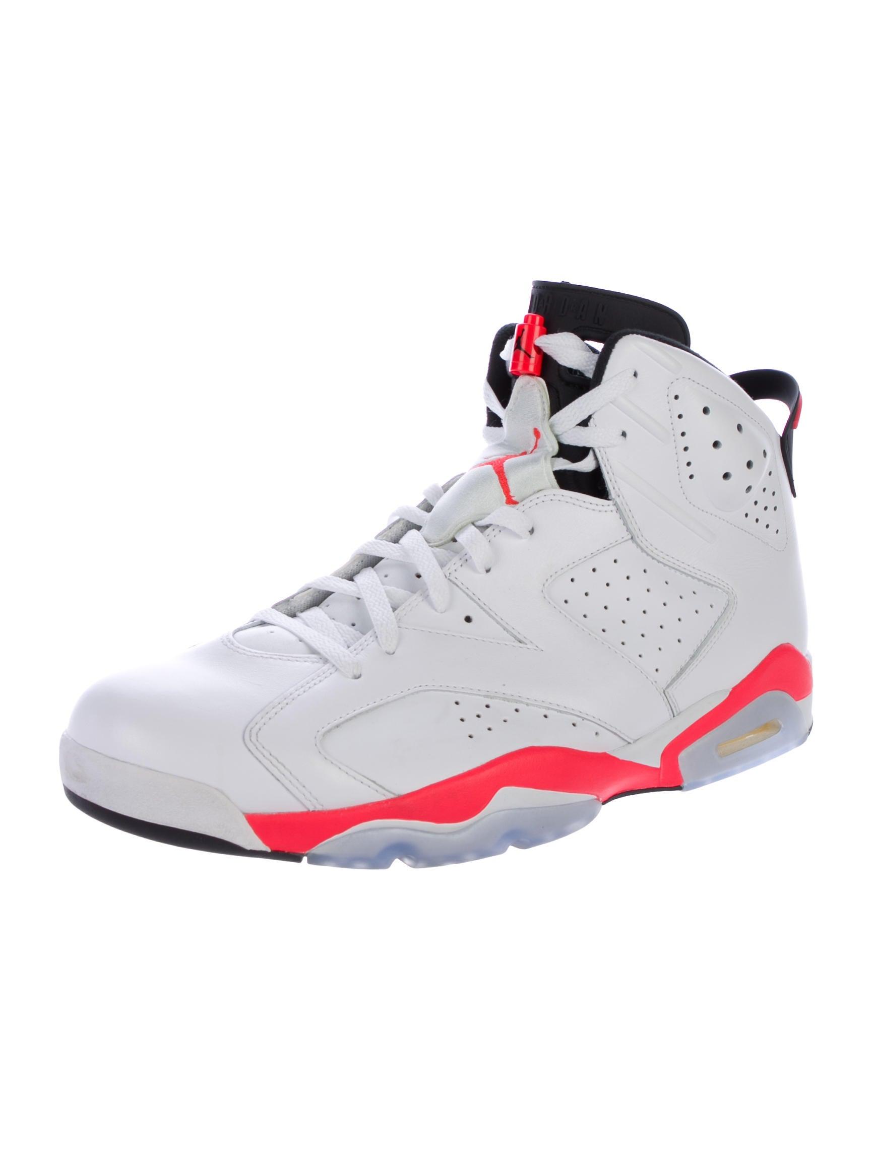 nike air jordan 6 retro infrared sneakers shoes wniaj20378 the realreal. Black Bedroom Furniture Sets. Home Design Ideas