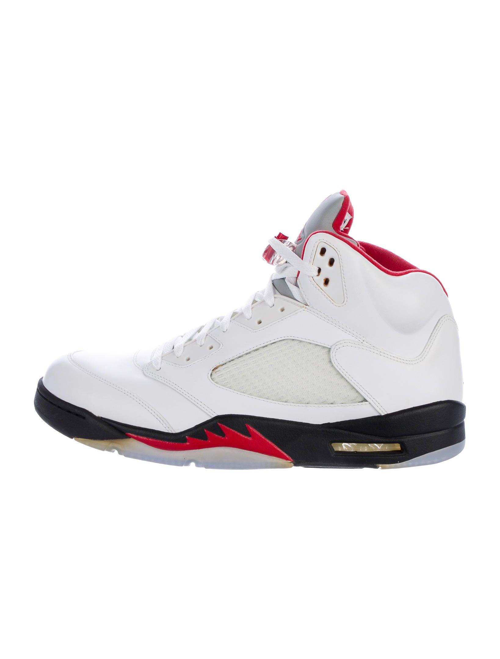 Nike Air Jordan Retro 5 Fire Red Sneakers Shoes