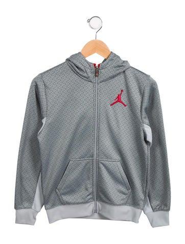 Nike Air Jordan Boys' Zip-Front Hoodie None