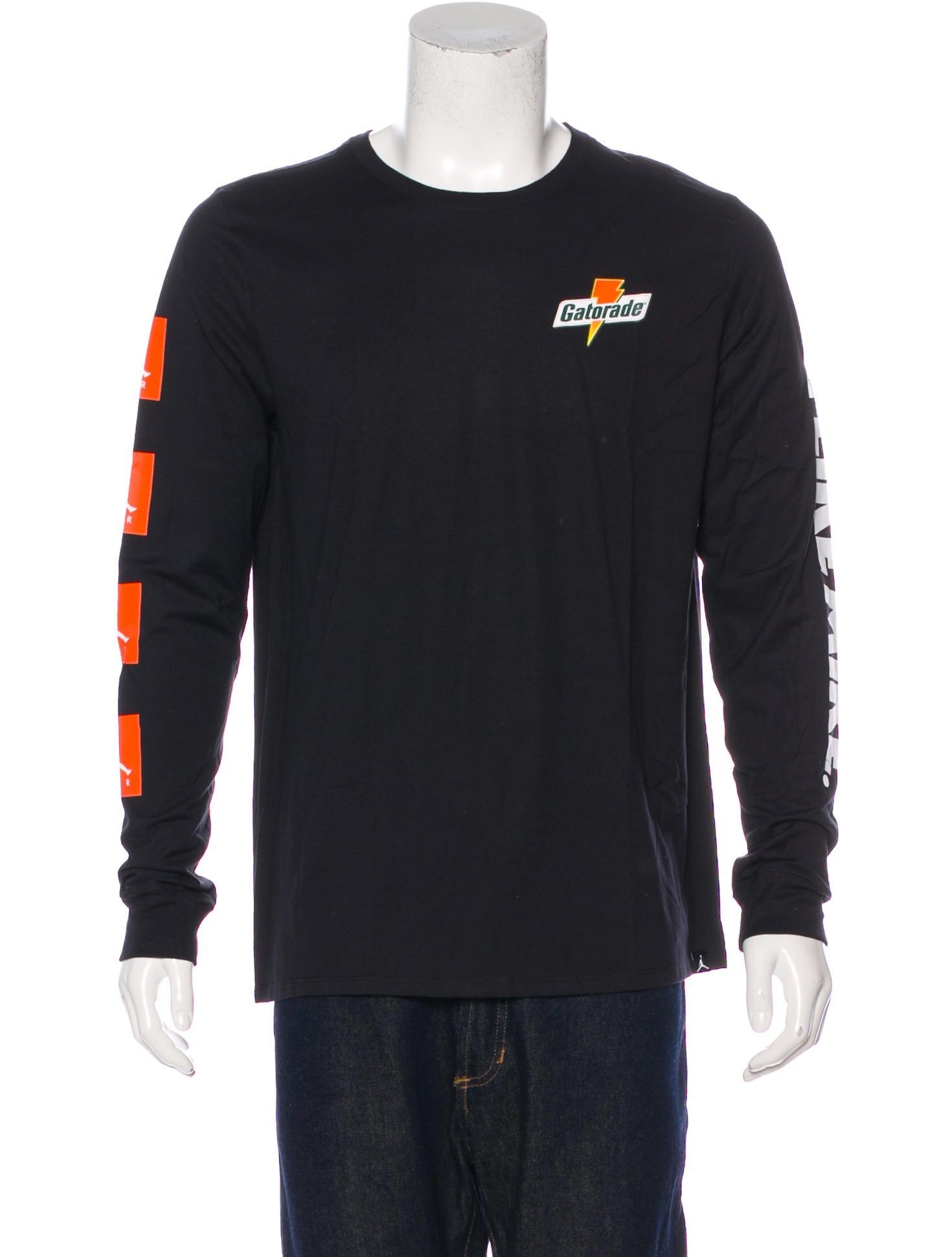 5f004a40304 Nike Air Jordan Gatorade Long Sleeve T-Shirt - Clothing - WNIAJ20770 ...
