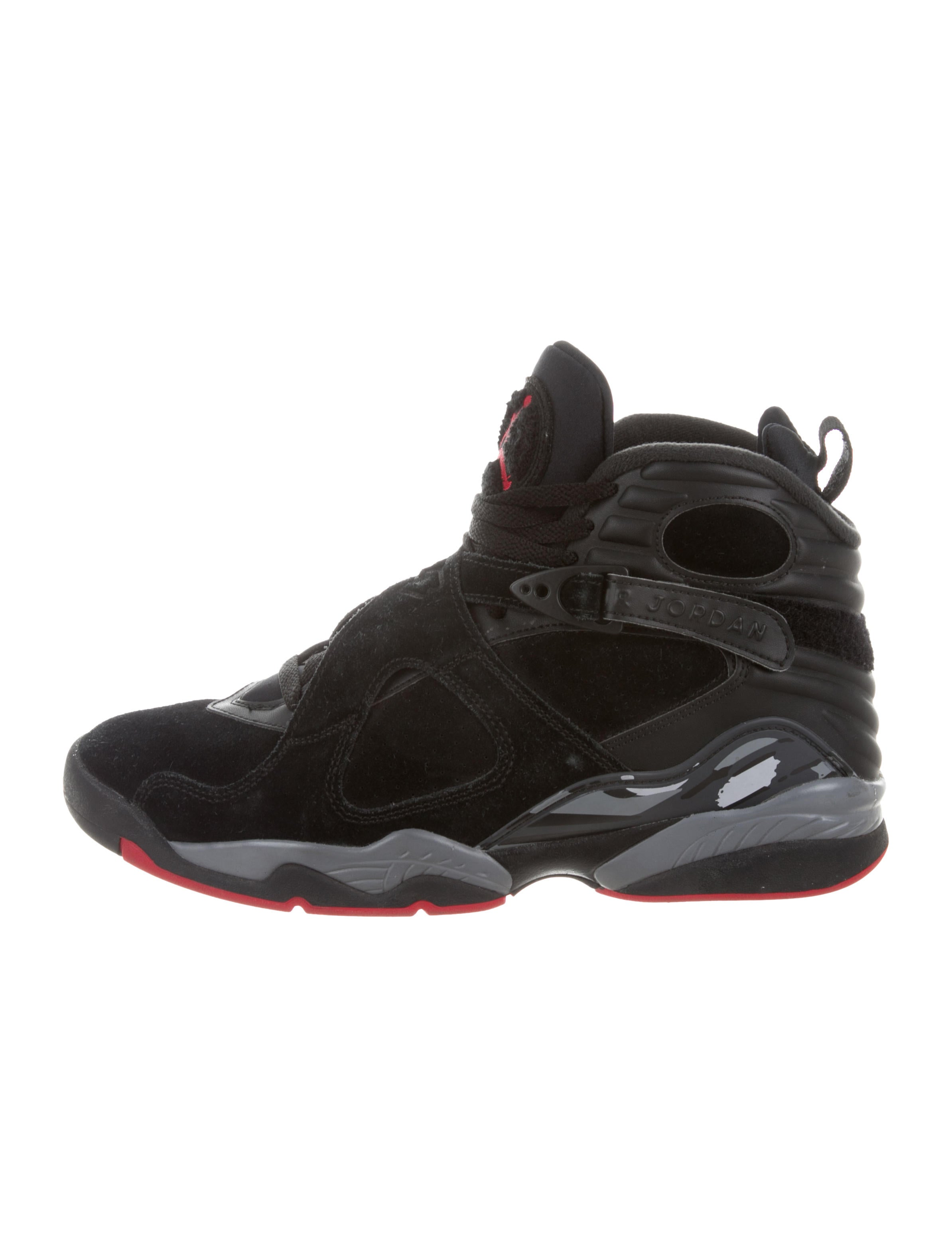 new product 11aae d680c ... mens nike basketball shoes black red db2ae afe37  spain nike air jordan  8 retro playoff sneakers. 8 retro playoff sneakers 7dbed 405c5