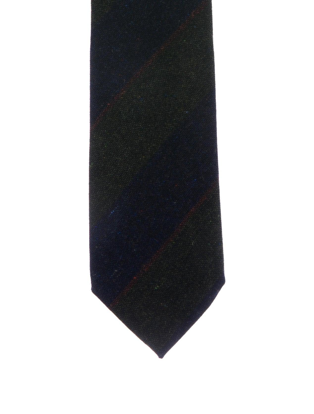 Silk tie light brown/olive striped Nicky avNXNkYY6